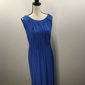 THE LIMITED WOMEN'S XS BLUE SLEEVELESS MAXI DRESS